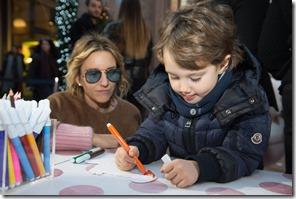 MONCLER ENFANT OPENING EVENT MILANO SPIGA_Rosa Cracco con Pietro