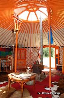 """""""Het kleine Paradijs"""" accommodatie Yurt"""