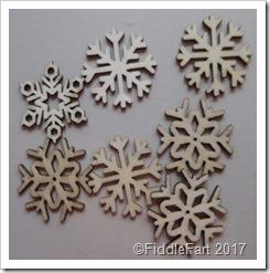 Wooden Snowflake embellishments