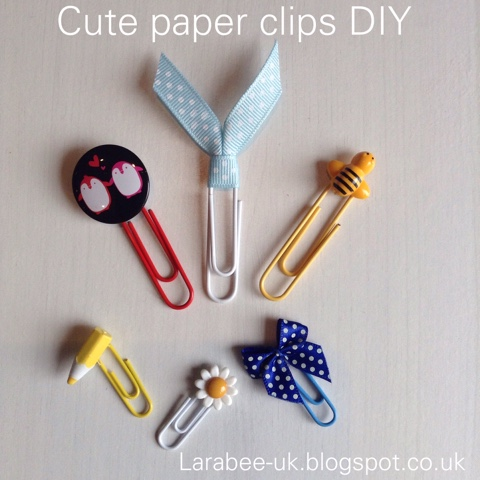 Create Cute Paper Clips Diy Larabeeuk