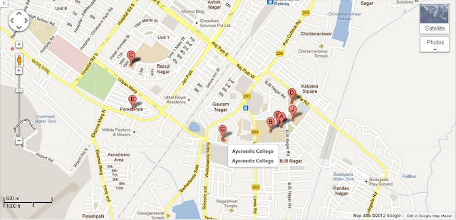 Ayurvedic College Bhubaneswar Area Map