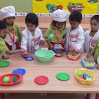 Healthy Bhel Day Celebrated by Playgroup Evening Section at Witty World, Chikoowadi(2018-19)