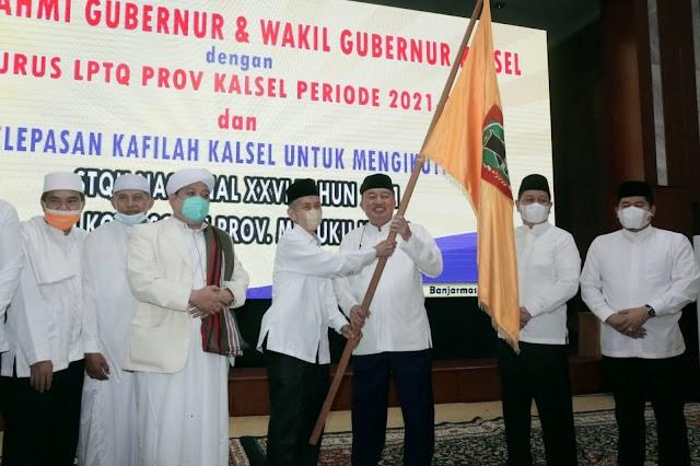 Pelepasan Kafilah STQH Kalsel Diawali dengan Shalat Hajat