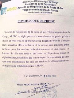 RDC: Annulation de nouvelles offres tarifaires mobiles: les consommateurs s'interrogent!