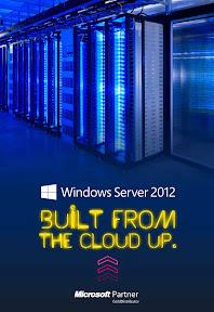 Microsoft Server 2012 reklám plakát tervezés.