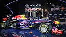 Christian Horner, Adrian Newey, Mark Webber, Simon Sproule and Sebastian Vettel Red Bull Racing RB9