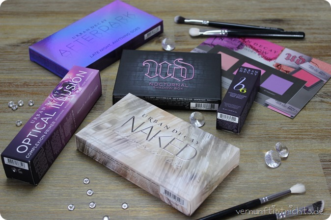 Urban Decay UD Naked Illuminated Trio LIdschattenpalette Nocturnal Shadow Box Eyeshado Lidschatten New Haul Primer Prep Spray Vitamin Infused b6 Afterdark Optical Illusion Review Swatch Bericht Test