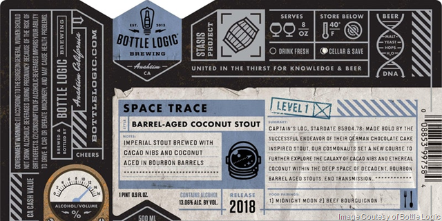 Bottle Logic Releasing 2018 Space Trace 4/15