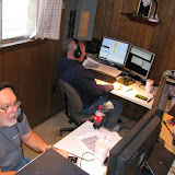 Terry W8ZN (foreground) on 20m SSB and Mike N2NAR (background) on V/UHF FM
