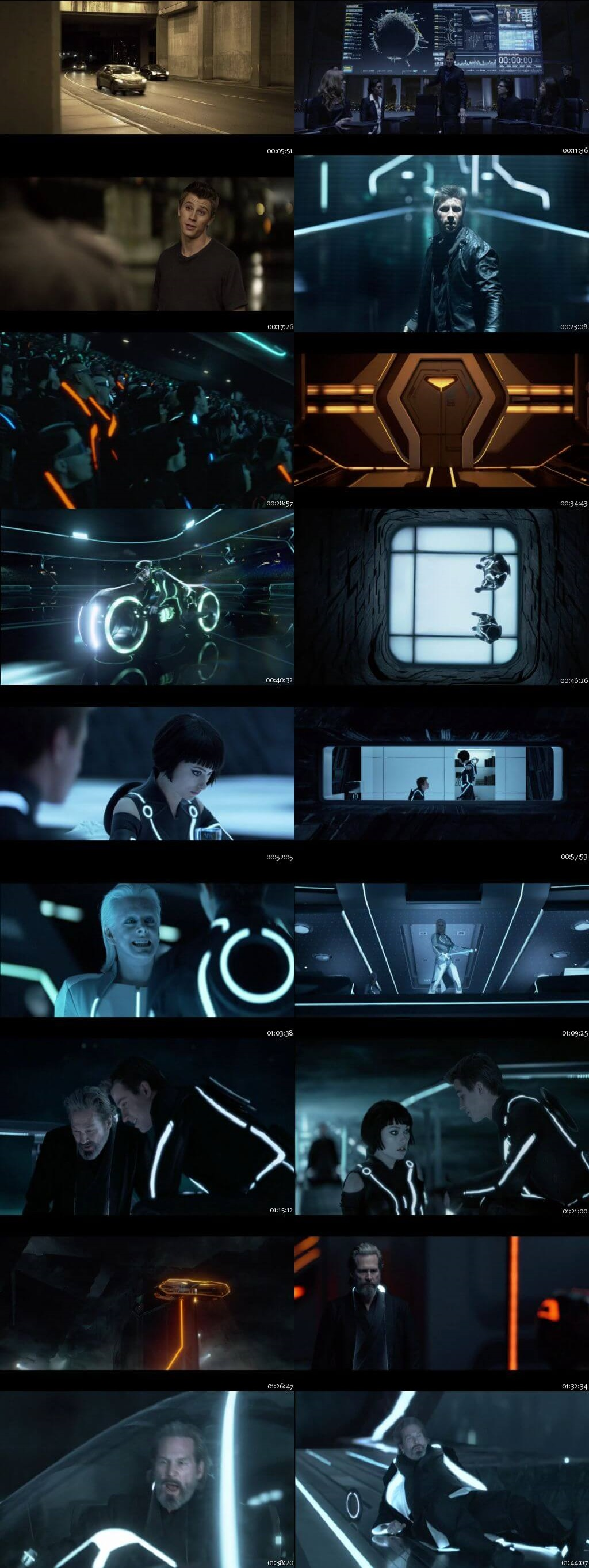Screen Shot Of Tron: Legacy 2010 300MB Full Movie Hindi Dubbed Free Download 480P BRRip Small Size PC Movie