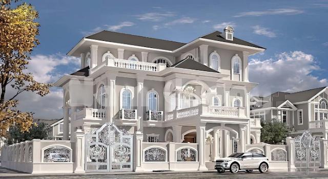 Mẫu thiết kế theo phong cách Pháp mang hơi hướng kiến trúc hiện đại