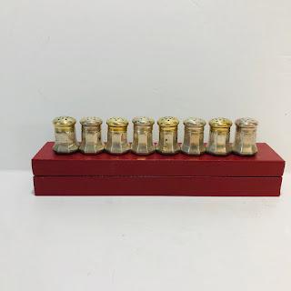 Cartier Sterling Silver Miniature Salt and Pepper Shaker Set