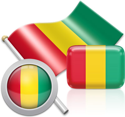 Guinean flag icons pictures collection