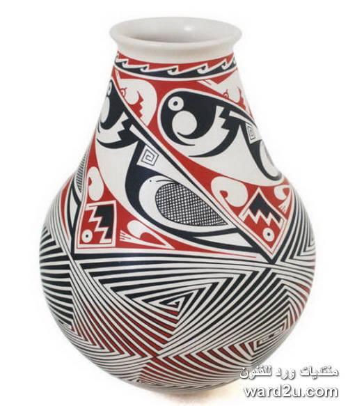 فازات خزفيه بزخارف فنيه متنوعه Mata Ortiz Pottery