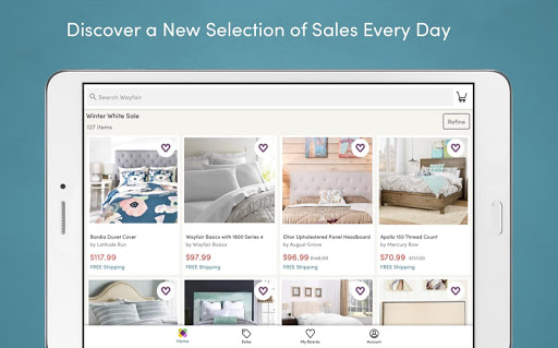 Wayfair - Shop All Things Home app (apk) free download for Android/PC/Windows screenshot