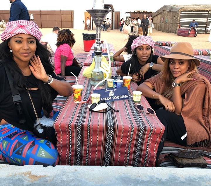 HOT!!!: Actress Lilian Esoro Having Fun With Her Friends On A Desert In Dubai (Photos)