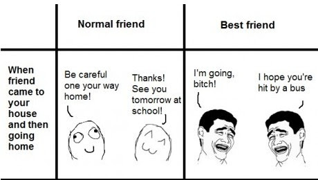 difference between normal friend and best friend 1