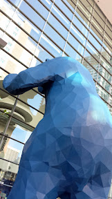I See What You Mean - a 40-foot blue bear art sculpture at the Colorado Convention Center