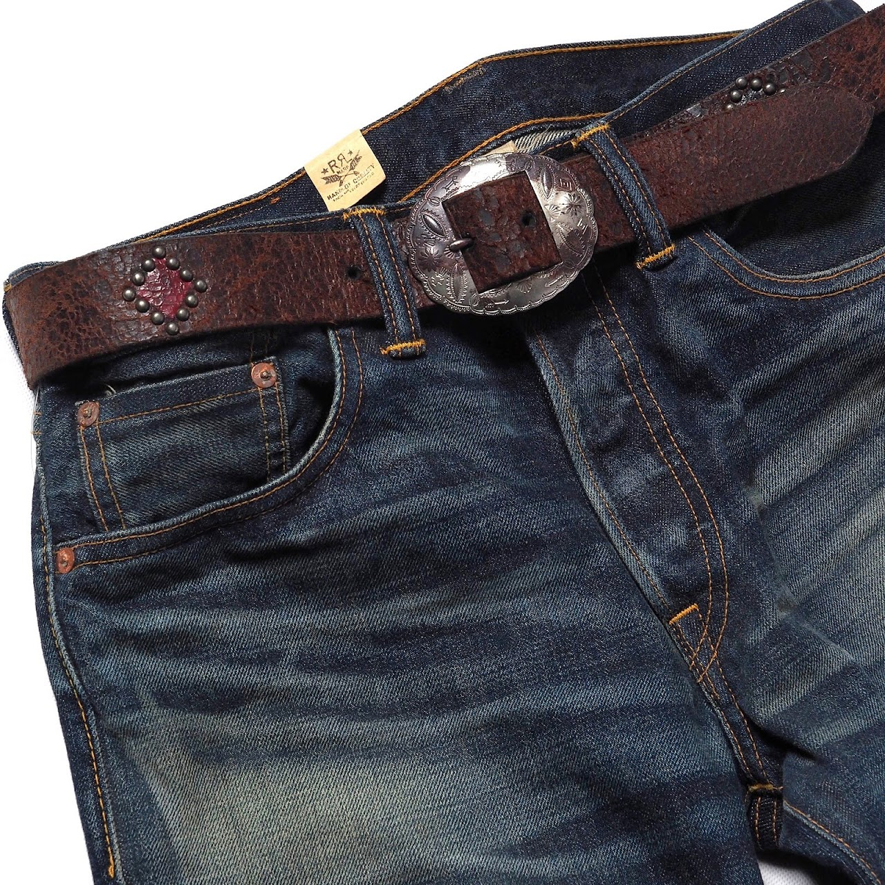 RRL / Maverick Leather Belt
