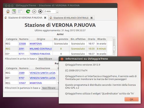 QViaggiaTreno 2012.9 su Ubuntu