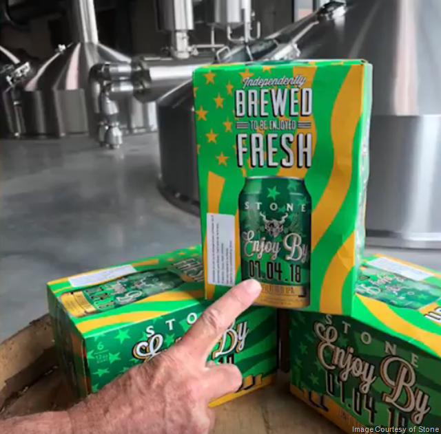 Stone Accidentally Filters Their Enjoy By 07.04.18 Unfiltered IPA (Video)