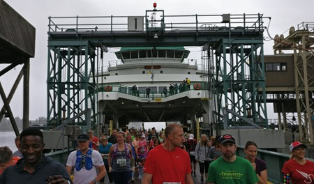 On the ferry dock ready to start running