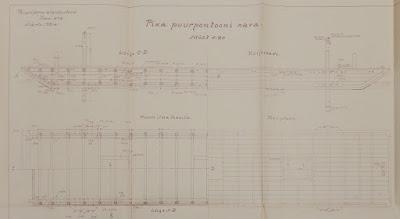 Длинный сверлильный понтон.(Из материалов Эстонского государственного архива)