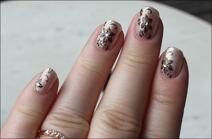 Nail Art Nageldesign Golden Summer Born Pretty BP-34 Stamping 06