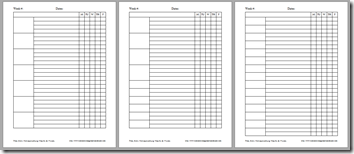 Homeschool planning pages template b&w 2
