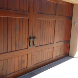 And Completed! Beautiful Sikkens Cetol 123 satin finish Garage door refinishing Rancho Santa Fe 92067 Peek Brothers Painting