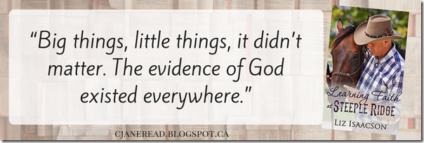 Learning Faith at Steeple Ridge Quote