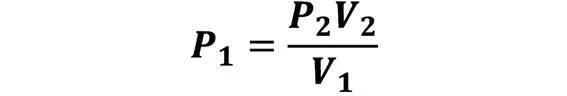 Las leyes de los gases: de boyle, de Charles, de Gay Lussac, de Avogadro y de Dalton - Despeje de la ley de Boyle en caso de que se conozca P2, V2 y V1; pero se desconoce P1 - sdce.es - sitio de consulta escolar