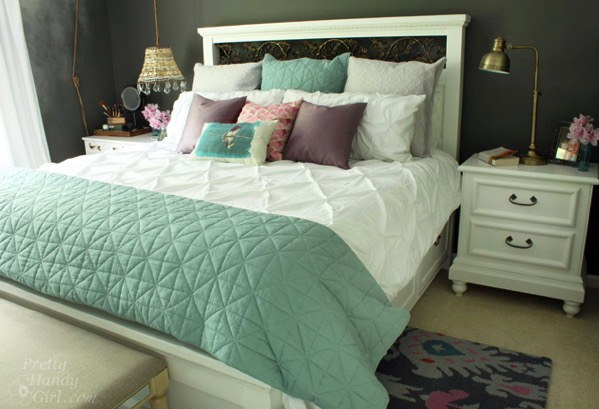 King size farmhouse storage bed