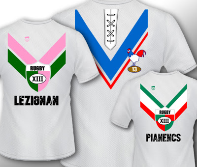 T-shirt supporters de rugby à XIII