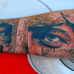 forearm mask - Eye Tattoo