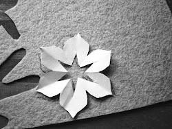 Ustalamy kolory i bierzemy się za odrysowywanie kwiatków na filcu (załączone wzory) i wycinamy.