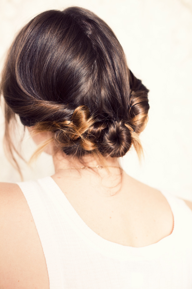 three buns hair how to bun hair style tutorial Holiday Hair Ideas Perfect For Any Gal and Any Outfit