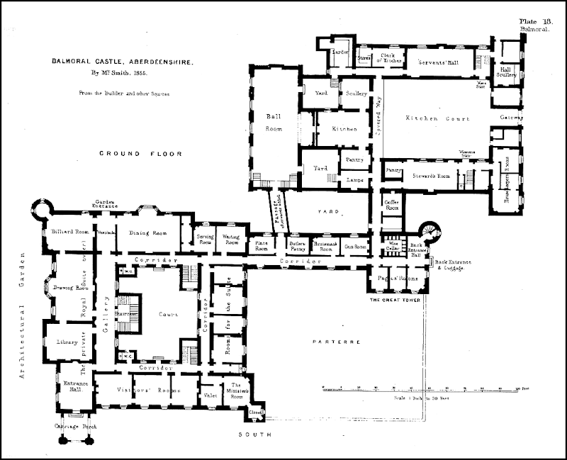 Historic English Manor House Floor Plans