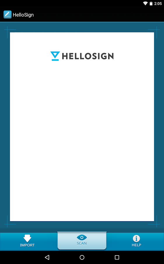 HelloSign- screenshot