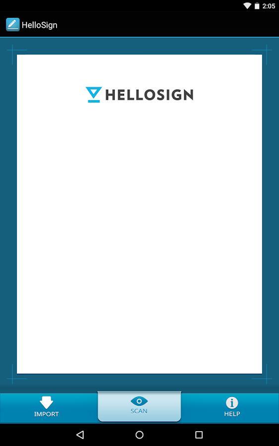 HelloSign - screenshot