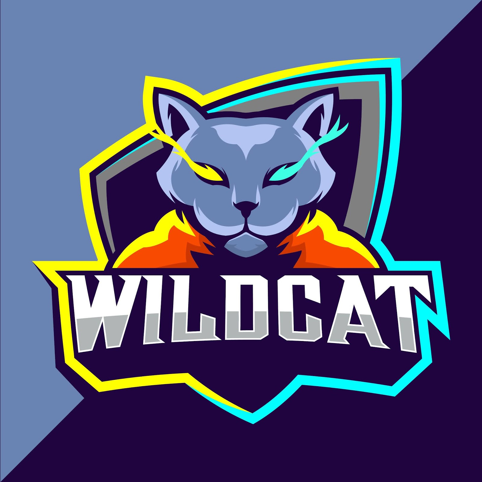 Wildcats Mascot Esport Logo Design Free Download Vector CDR, AI, EPS and PNG Formats