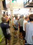 A blurry shot of all the runners waiting patiently at the MARTA station for the train to the starting line. Apparently my camera wasn't awake yet.