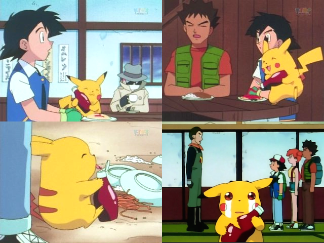 pikachu loves ketchup