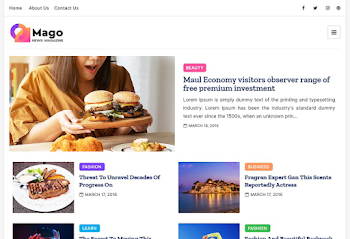 Mago Premium Blogger Template Free Download