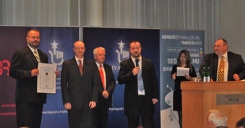 Az Év Honlapja SEOsiker 2015 TOP SITE Díj - a díjátadás