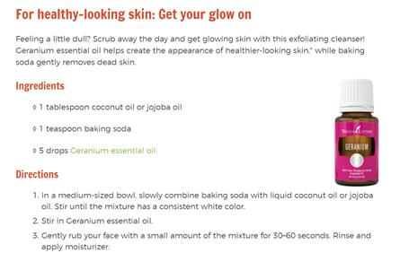Geranium for Skin