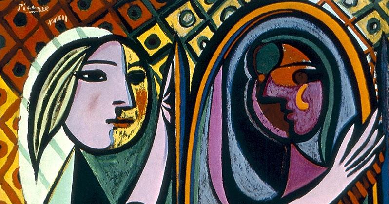 Testclod jeune fille devant un miroir pablo picasso for Fille au miroir