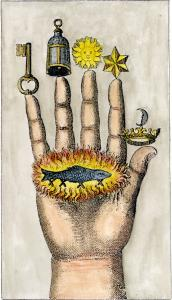 The Hand Of The Philosophers From Jj Hollandus Chymische Schrifften Vienna 1773, Alchemical And Hermetic Emblems 1