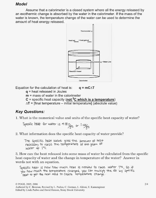 Tom Schoderbek Chemistry Calorimetry Pogil. Calorimetry Pogil. Worksheet. Calorimetry Worksheet Key At Clickcart.co