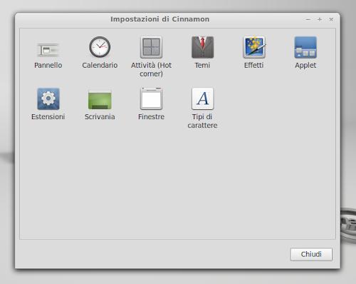 Linux Mint 13 Maya - Cinnamon Settings